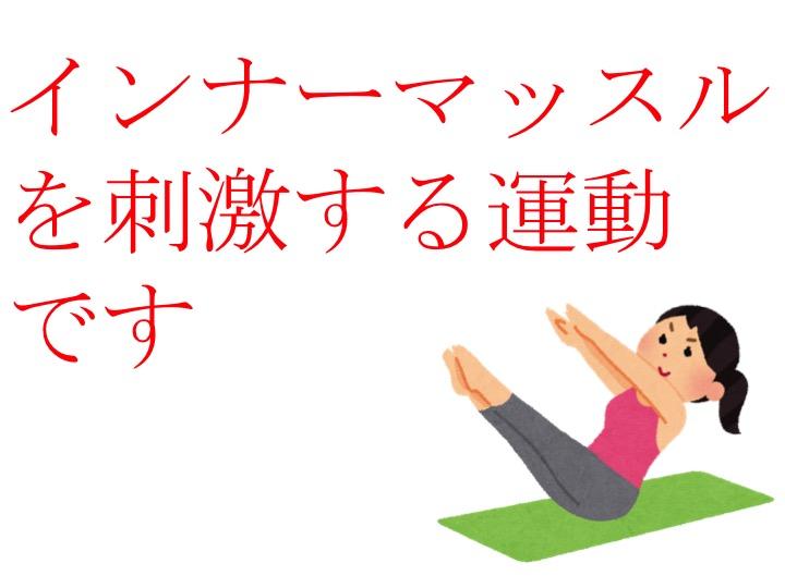 インナーマッスルを刺激する運動 です